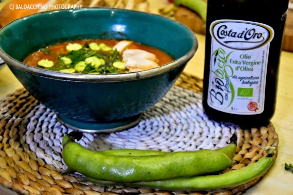 tomato soup with broad beans 3