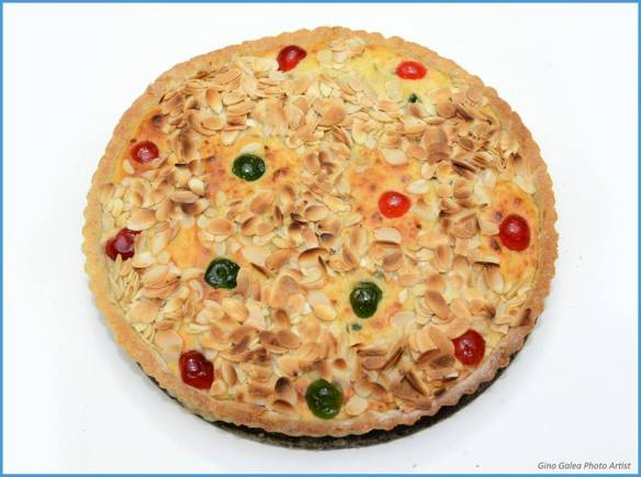 As seen on TV, a ricotta and almond tart I made on the show with Anton