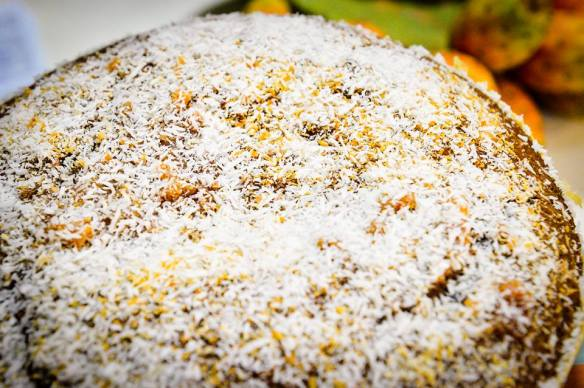 All in one chocolate coconut cake with reduced sugar