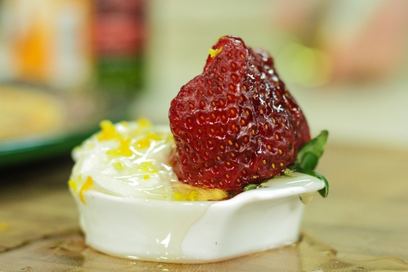 burrata and strawberries goodfoodeveryday