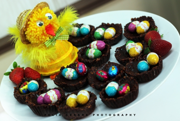 Easter nests with chocolate cornflakes 2