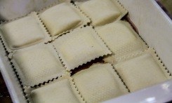 fresh sheeps milk ravioli bake
